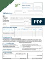 Admission Form