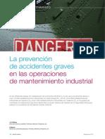 Vilchez J.a., Blanco E., La Prevención de Accidentes Graves en Operaciones de Mantenimiento Industrial, IQ (2013)