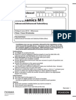 Edexcel M1 June 2014 IAL