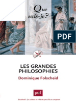 Les Grandes Philosophies - Dominique Folscheid