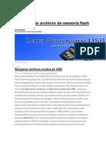 Recuperar Memoria Usb Sin Formatear
