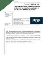 NBR 167 - Carbureto de Calcio - Determinacao Do Rendimento
