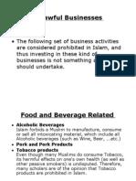 Unlawful Businesses