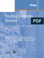 Finding Common Ground - Indigenous Peoples and Their Association With the Mining Sector