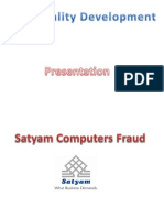 Satyam Computers Scam Ppt