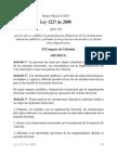 Ley 1227 de 2008