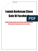 Teknik Berkesan Close Sale Di Facebook