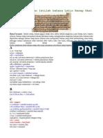 Daftar Singkatan Istilah Bahasa Latin Resep Obat