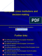 EU Institutions and decision making