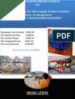 Factors effecting labor intensive industry in bangladesh