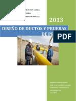 Diseño De Ductos y Pruebas De Presion