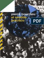 Libro Bourdieu El Sentido Practico 1980
