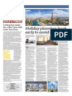 Holiday Planning , Book Early to Avoid High Prices - Gulf Times 03 Jul 2014