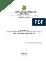 Fichamento - Da Ideia de Universidade a Universidade de Ideias