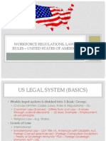 Workforce Regulations, Laws, Rules – United States of America