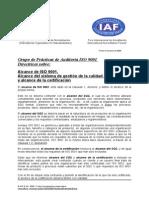Alcance ISO SGC y Cert