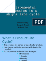IMT Presntaion on Ships Life Clycle