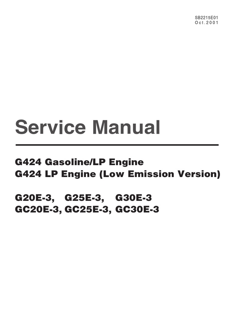 Sb2215e01 Doosan Carburetor Manual Transmission Komatsu Bx50 Forklift Wiring Diagram
