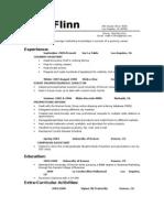 Matt Flinn - Resume