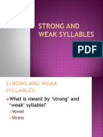Strong and Weak Syllable