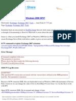 Exchange 2007 SCW and Windows 2008 SP2 - Part 2