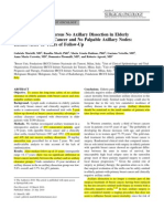 Axillary Dissection Versus No Axillary Dissection1