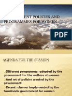 Women  devlopment-government Policies and Programmes