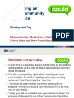 Developing an icould community of practice