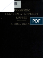 Stammering - Cleft Palate Speech Lisping - 1922