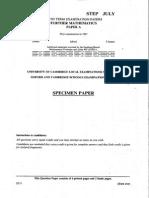 1987 Specimen STEP 2 - Further A