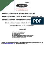 IDEX- Programas de Especialización (Ciclo I-07)