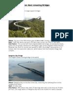 Ten Most Amazing Bridges