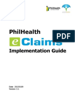PhilHealth Electronic Claims Implementation Guide v3.1 20130122