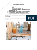 Quimica Informe de Laboratorio