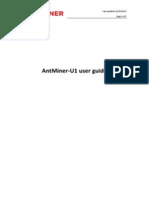 AntMiner-U1+user+guide