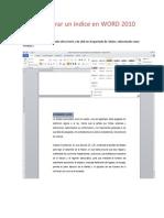 Como Generar Un Indice en Word2010 2
