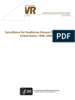 CDC Surveillance for Foodborne Disease Outbreaks in the Us From 1998 to 2008