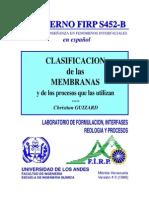 Clasificacion de Las Membranas y de Los Procesos Que Las Utilizan