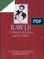 Chandran Kukathas, Philip Pettit Rawls a Theory