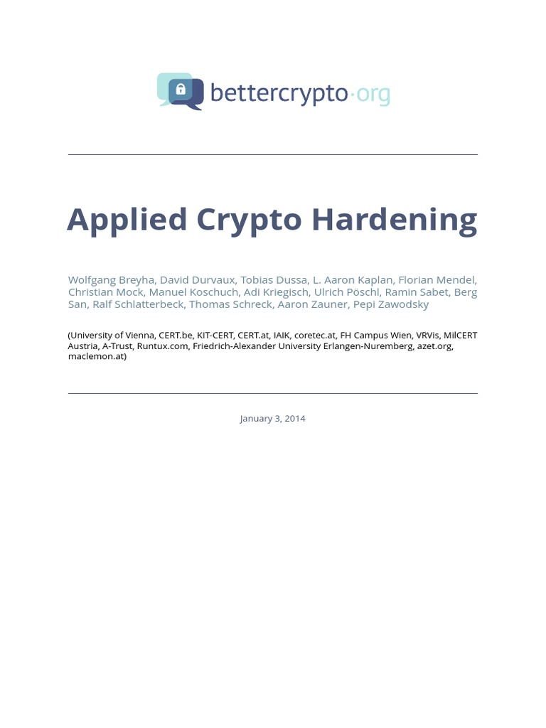 Applied Crypto Hardening | Transport Layer Security