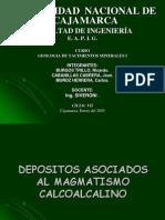 Depositos Asociados Al Magmatismo Calcoalcalino