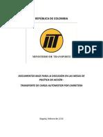 Documentos Base Para La Discución en Las Mesas de Politica en Accion-carga