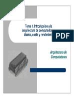 T1-Introduccion a La Arquitectura de Computadores-Diseno Coste y Rendimiento