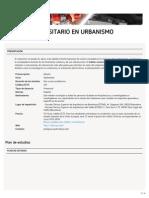 Máster Universitario en Urbanismo (ETSAB)