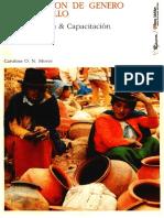 Planificación Genero y Desarrollo Moser