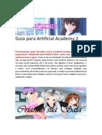 Artificial Academy 2 - Guia Do Jogo em PT-BR