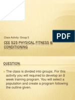 Physical Fitness & Conditioning