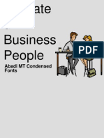 Animated Business People Backgrou