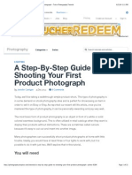A Step-By-Step Guide to Shooting Your First Product Photograph - Tuts+ Photography Tutorial