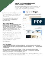 blogger handout
